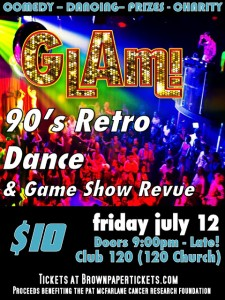 GLAM! 90's Retro Dance Poster